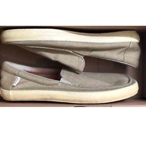 Vans Bali Surf Siders Slip Ons Khaki Shoes 👟